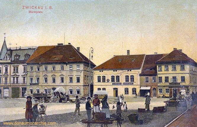 Zwickau in Böhmen, Marktplatz