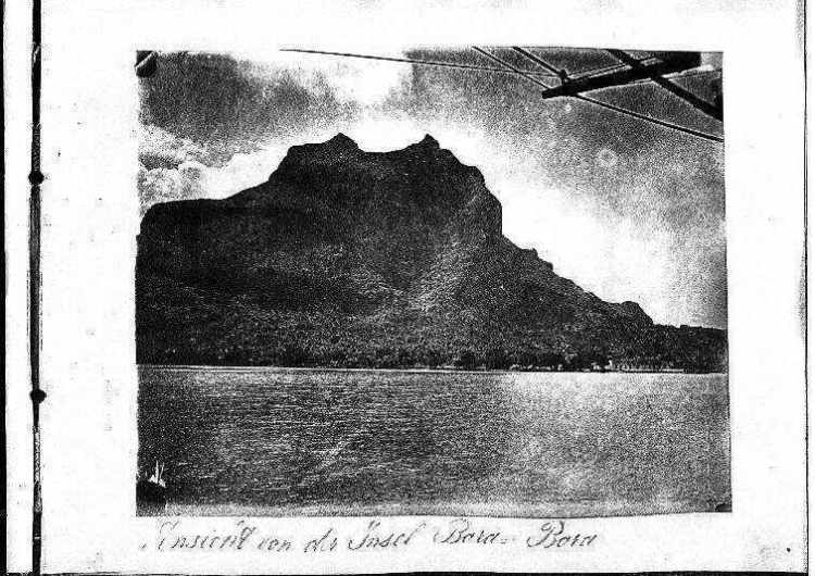 Ansicht von der Insel Bora Bora