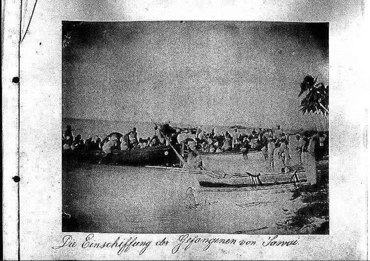 Die Einschiffung der Gefangenen von Sawai