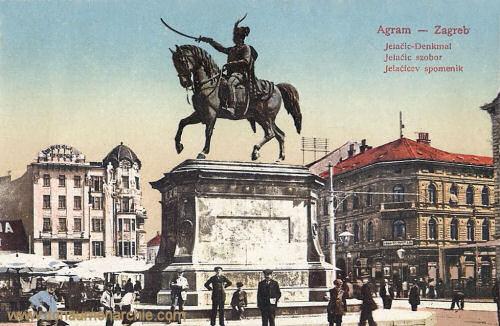 Agram - Zagreb, Jelačić-Denkmal