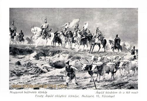 Arpad, Landnahme der Ungarn