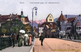 Bozen, Talferbrücke gegen die Museumstraße
