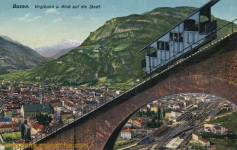 Bozen, Virglbahn und Blick auf die Stadt