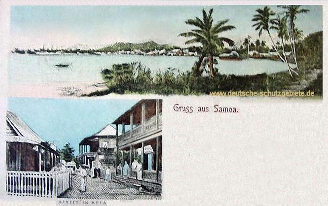 Gruss aus Samoa, Straße in Apia