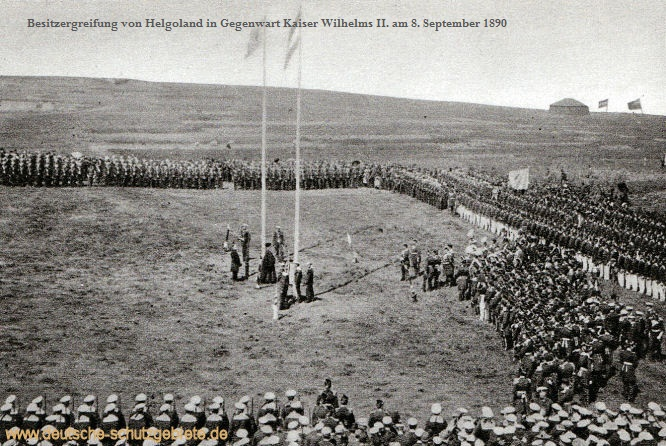 Besitzergreifung von Helgoland in Gegenwart Kaiser Wilhelms II. am 8. September 1890