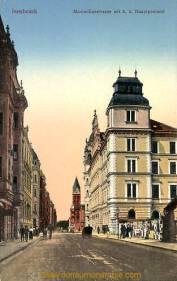 Innsbruck, Maximilianstrasse mit k. k. Hauptpostamt