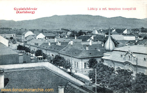 Karlsburg (Gyulafehérvár), Blick zur Reformierten Kirche