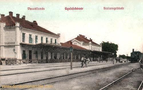 Karlsburg (Gyulafehérvár), Stationsgebäude