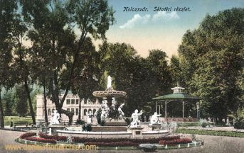 Klausenburg (Kolozsvár - Cluj), Sétatéri részlet (Springbrunnen)