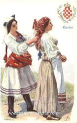 Kroatien, Frauen in Landestracht