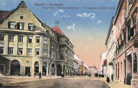 Kronstadt (Brassó - Brașov), Purzengasse mit Hotel Krone