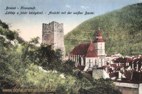 Kronstadt (Brassó - Brașov), Ansicht mit der weißen Bastei