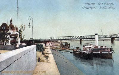 Pressburg (Pozsony, Bratislava), Schiffstation