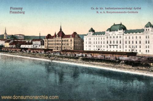 Pressburg (Pozsony, Bratislava), K. u. K. Korpskommando-Gebäude