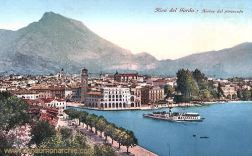Riva, Lago di Garda - Arrivo del piroscato