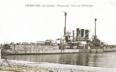 S.M.S. Thüringen ausgeliefert an Frankreich in Cherbourg 1920