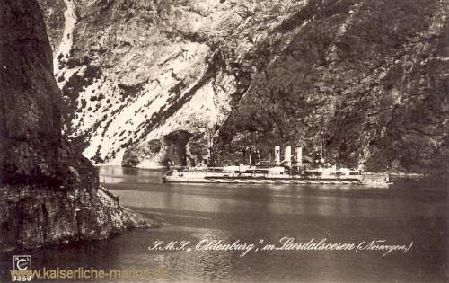 S.M.S. Oldenburg in Norwegen