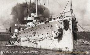S.M.S. Ostfriesland, Bugansicht