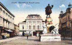 Szegedin (Szeged), Klauzál tér és Kossuth szobor