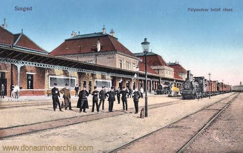 Szegedin (Szeged), Palyaudvar (Bahnhof)