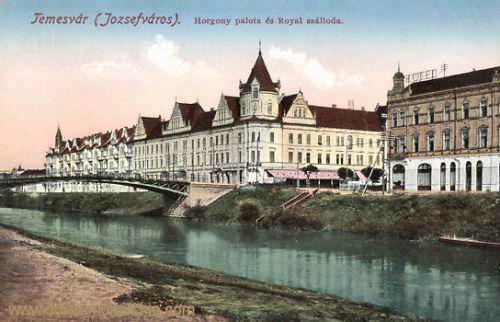 Temesvár, Horgony palota és Royal szálloda (Hotel Royal)