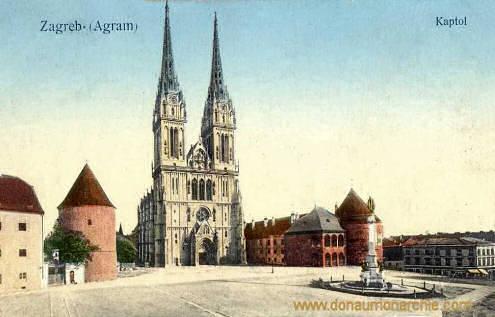 Agram (Zagreb), Kaptol (Kapitelplatz mit Dom)