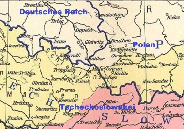 Schlesien Karte Heute.österreichisch Schlesien Deutsche Schutzgebiete De