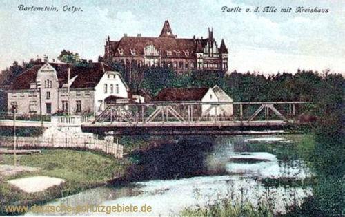 Bartenstein Opr., Partie an der Alle mit Kreishaus