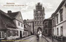 Bartenstein Opr., Heilsbergerstraße mit Heilsberger Tor