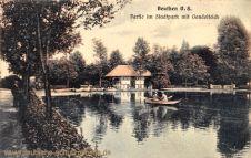 Beuthen O.-S., Partie im Stadtpark mit Gondelteich