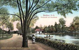 Beuthen O.-S., Promenade mit Gondelteich