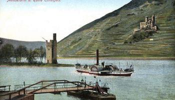 Bingen, Mäuseturm und Ruine Ehrenfels