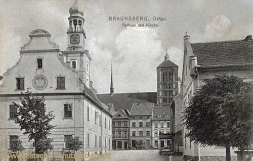 Braunsberg, Rathaus und Kirche