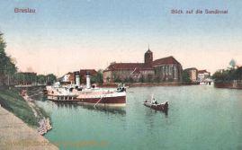 Breslau, Blick auf die Sandinsel