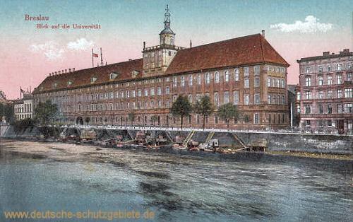 Breslau, Blick auf die Universität