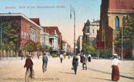 Breslau, Blick in die Schweidnitzer Straße