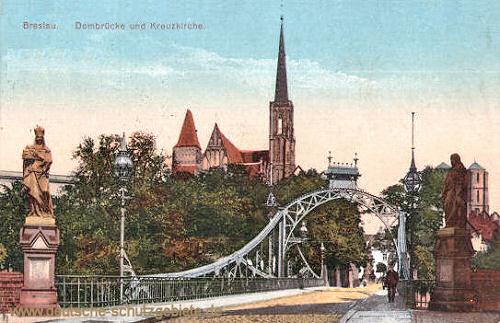 Breslau, Dombrücke und Kreuzkirche
