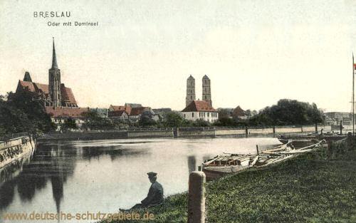 Breslau, Oder mit Dominsel