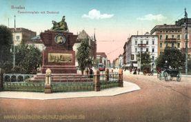 Breslau, Tauentzienplatz mit Denkmal