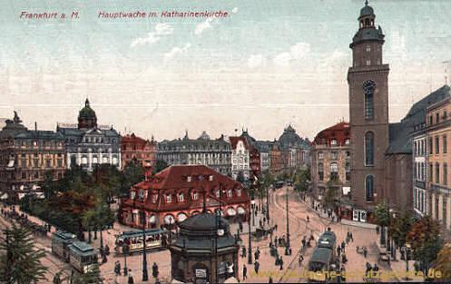 Frankfurt a. M., Hauptwache mit Katharinenkirche