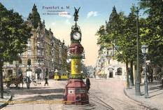 Frankfurt a. M., Kaiserstraße mit Manskopf-Uhrturm