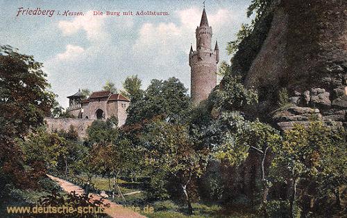 Friedberg in Hessen, Die Burg mit Adolfsturm