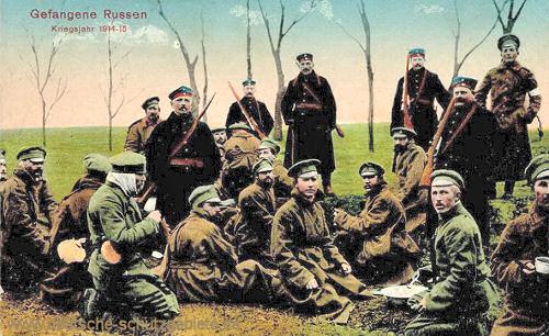 Gefangene Russen, Kriegsjahr 1914-15