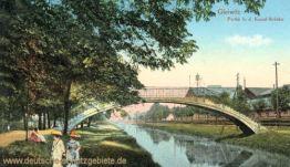 Gleiwitz, Partie b. d. Kanal-Brücke