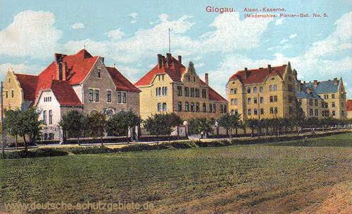 Glogau, Alsen-Kaserne Niederschlesisches Pionier-Batl. No 5