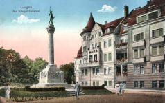 Glogau, Am Kriegerdenkmal