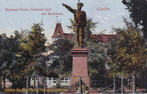 Görlitz, Denkmal Prinz Friedrich Carl mit Blockhaus