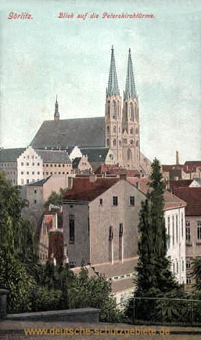 Görlitz, Blick auf die Peterskirchtürme