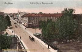 Gumbinnen, Große Brücke. Darkehmerstraße