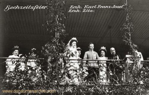 Hochzeitsfeier Erzh. Karl Franz Josef Erzh. Zita, 1911